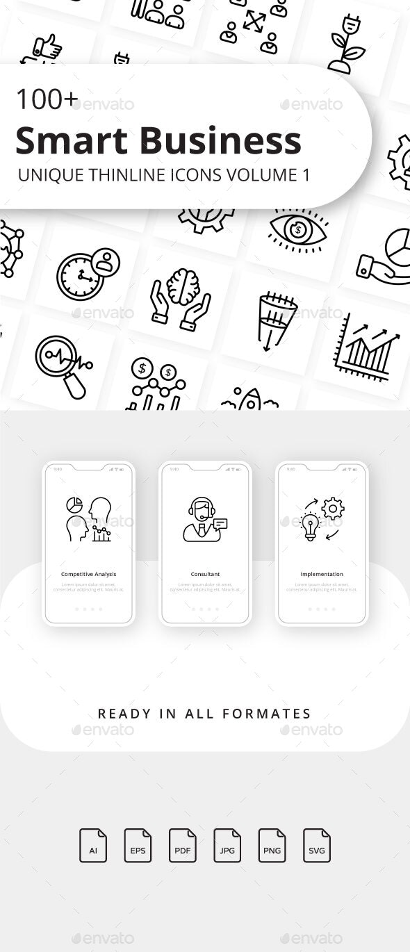 Smart Business Volume 1 Outline Icons - Business Icons