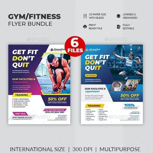 Fitness GYM Flyer Bundle