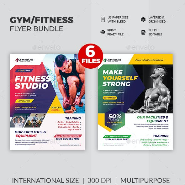 GYM Fitness Flyer Bundle