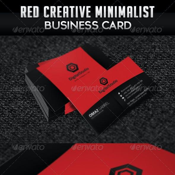 Red Creative Minimalist Business Card