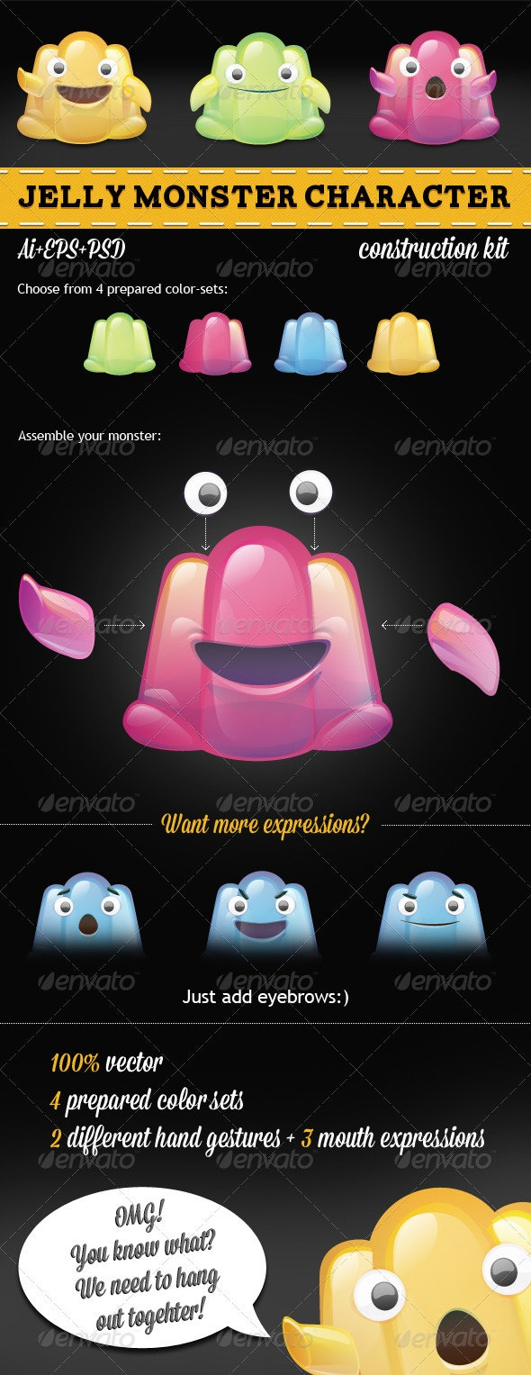 Jelly Monster Character Creation Kit - Monsters Characters