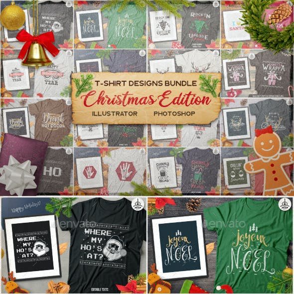 Christmas Vector Designs, Cards Bundle SVG