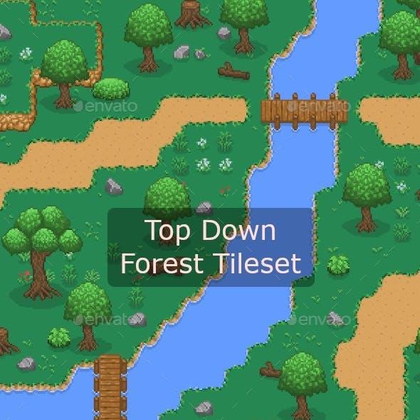 Pixelart Top Down Forest Tileset