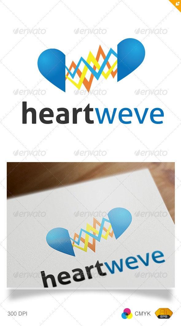 Heart Wave Logo - Humans Logo Templates