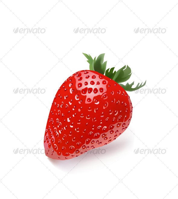 Isolated strawberry  - Food Objects