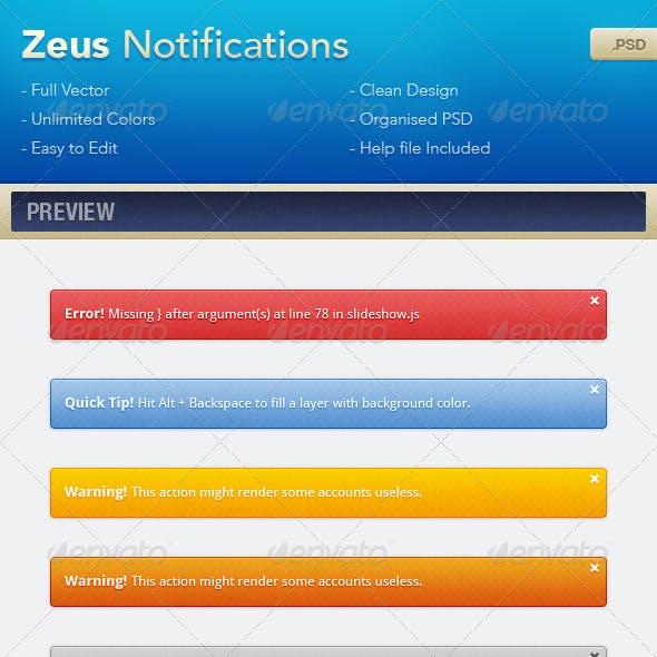 Zeus Notifications