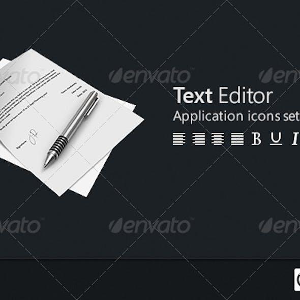 Text Editor Icon Set