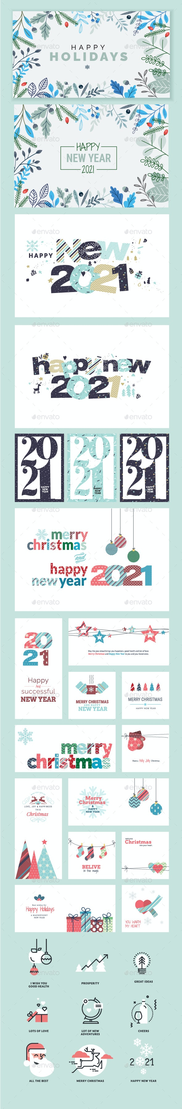 Merry Christmas and Happy New Year 2021 - Seasons/Holidays Conceptual