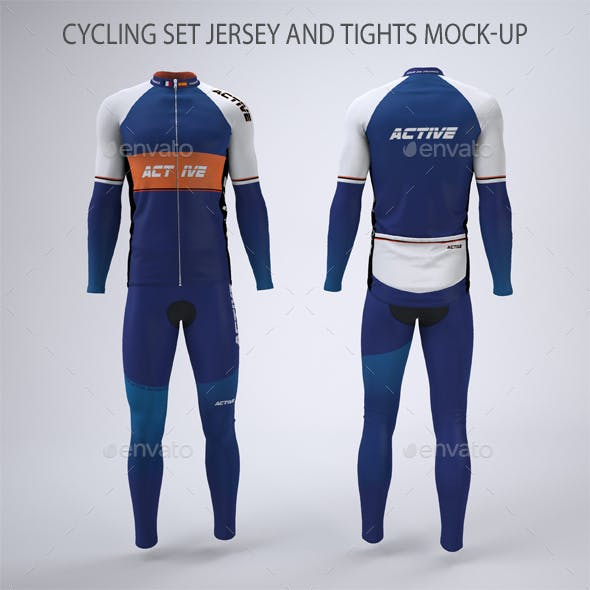 Cycling Jersey and Tights Mock-up