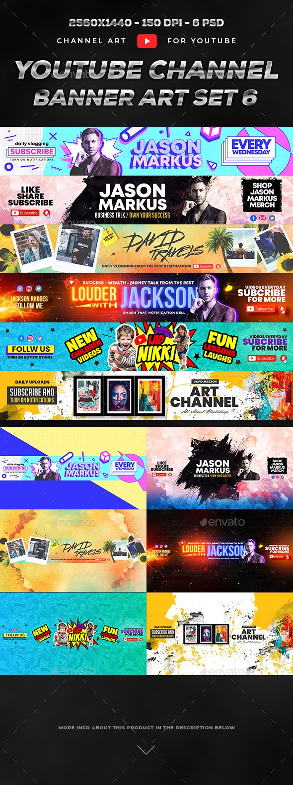 Youtube Banner Template Set 6