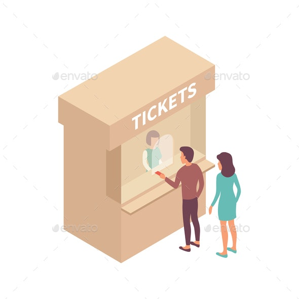 Ticket Office People Composition - Miscellaneous Vectors