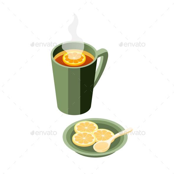 Lemon Tea Cup Composition - Miscellaneous Vectors
