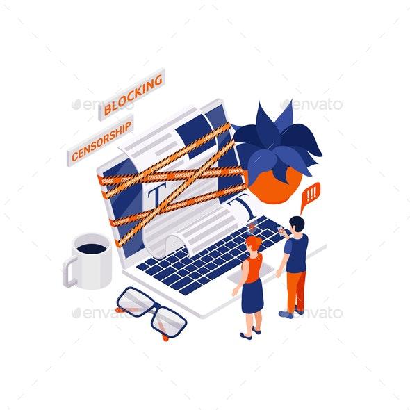 Internet Blocking Laptop Composition - Computers Technology
