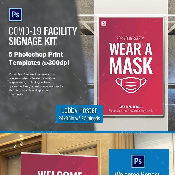 COVID-19 Facility Signage Kit
