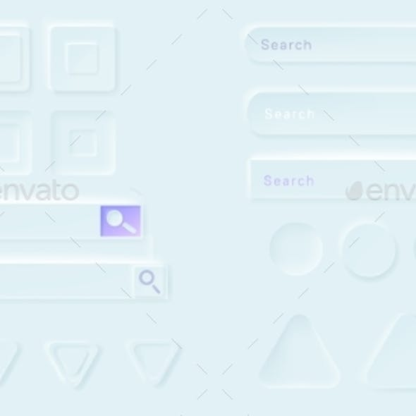 Neumorphic Buttons and Search Bars for Ui App