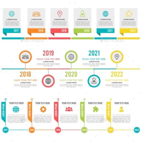 Timeline. Workflow or Process Diagram Option