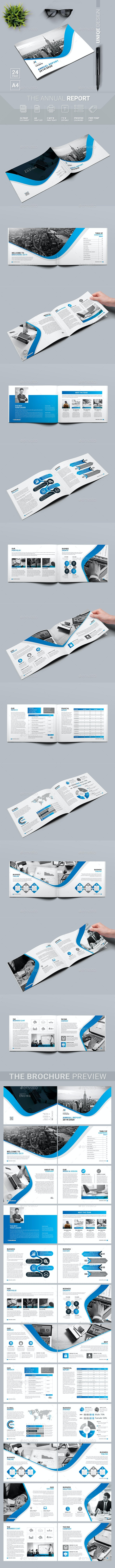 Landscape Annual Report - Magazines Print Templates