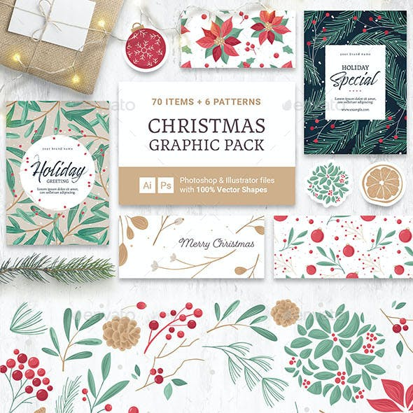 Festive Christmas Vector Graphics