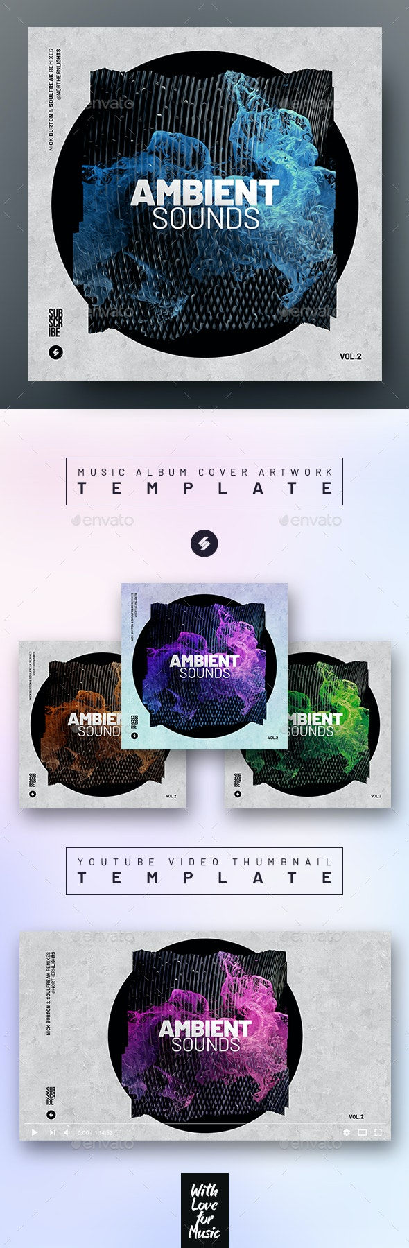 Ambient Sounds 2 – Music Album Cover Artwork / Video Thumbnail Template - Miscellaneous Social Media