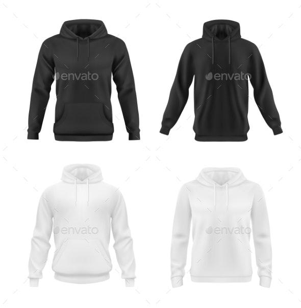 Hoodie, Sweatshirt Vector Mockup, Teen Fashion - Objects Vectors