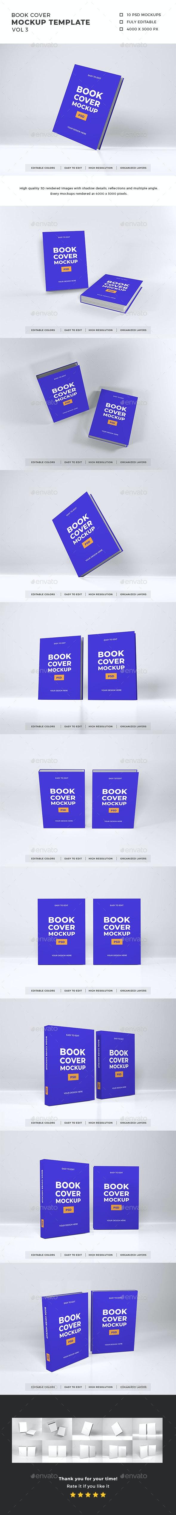 Book Cover Mockup Template Vol 3 - Books Print