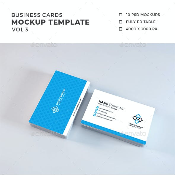 Business Card Mockup Template Vol 3