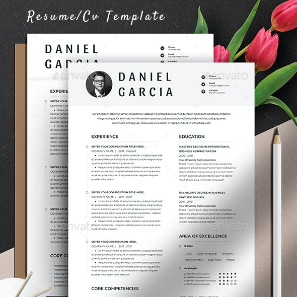 Clean Resume Cv Template Word Apple Pages