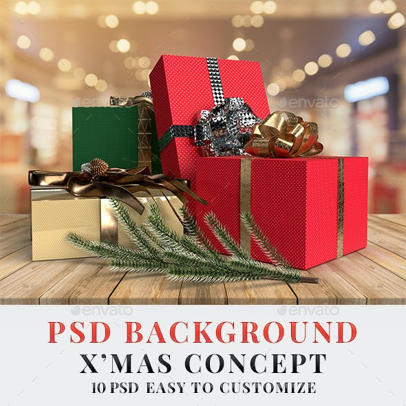 PSD Background Merry Christmas Concept