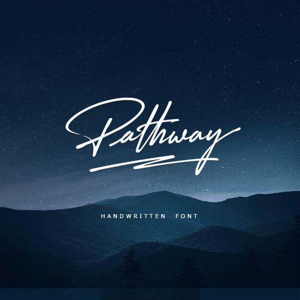 Pathway Handwritten Font