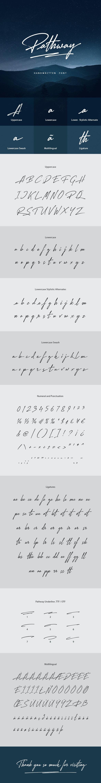 Pathway Handwritten Font - Handwriting Fonts