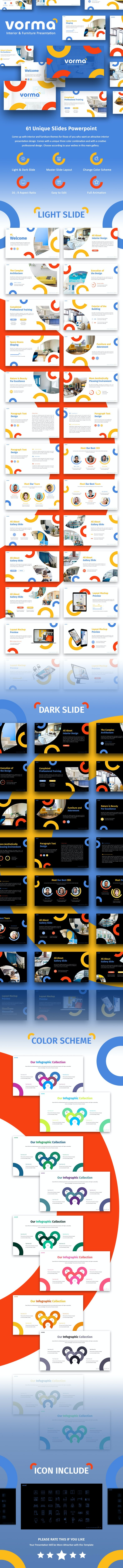 Vorma Interior & Furniture Presentation Template - Creative PowerPoint Templates