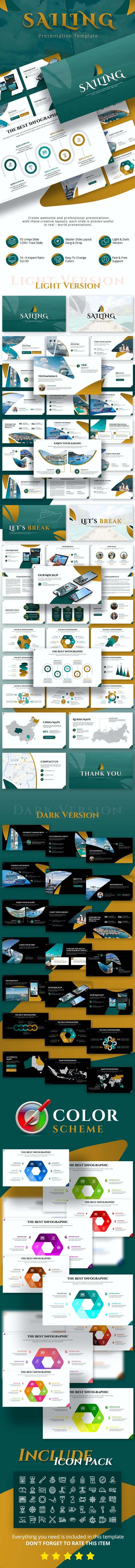 Sailing Ocean Presentation Template - Creative PowerPoint Templates