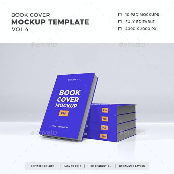 Book Cover Mockup Template Vol 4