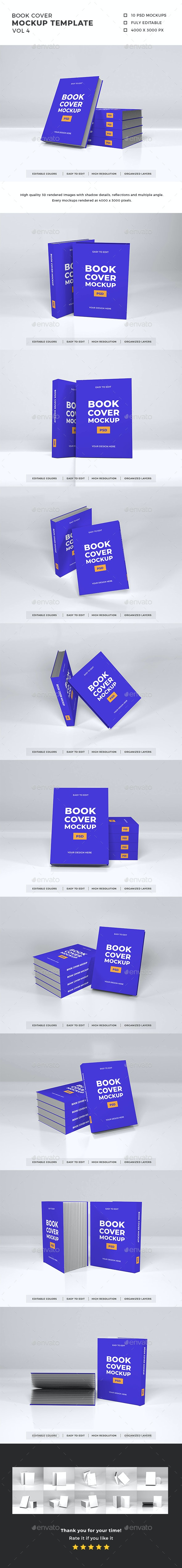 Book Cover Mockup Template Vol 4 - Books Print