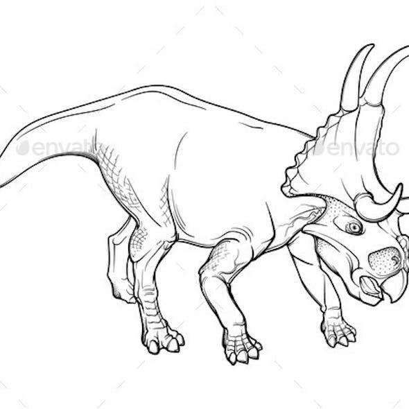 Walking Diabloceratops Striped