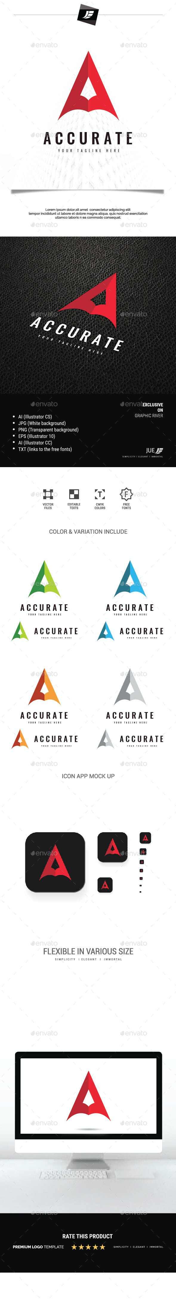 Letter A Accurate Logo - Letters Logo Templates