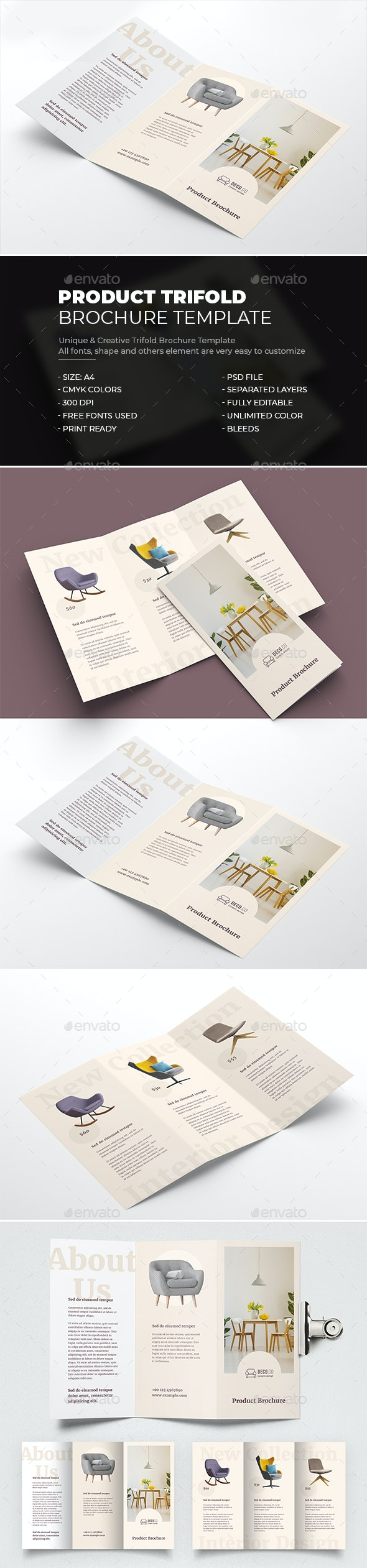 Product Trifold Brochure - Brochures Print Templates