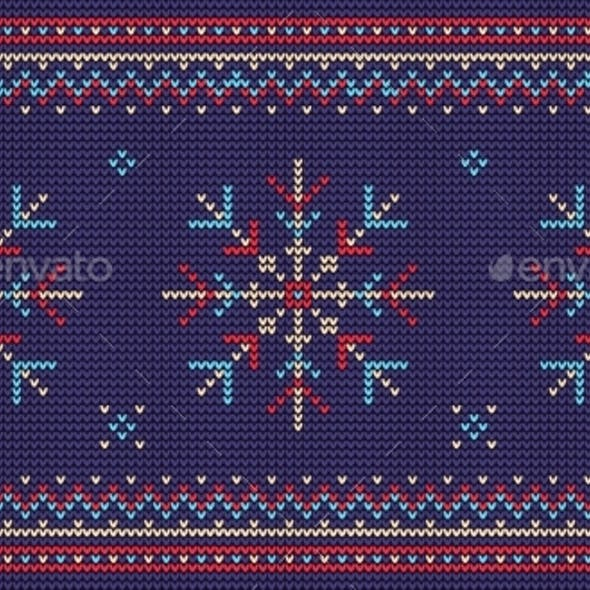 Nordic Knitted Sweater Seamless Pattern