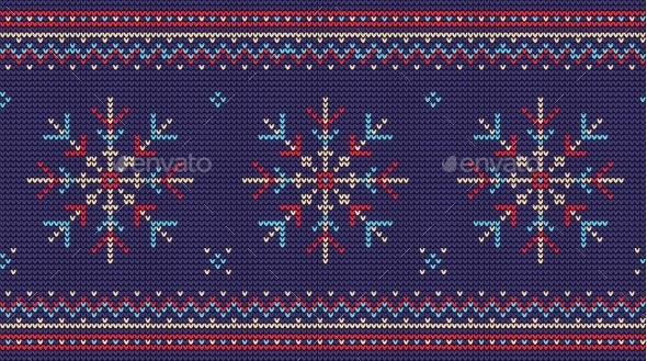 Nordic Knitted Sweater Seamless Pattern - Seasons/Holidays Conceptual