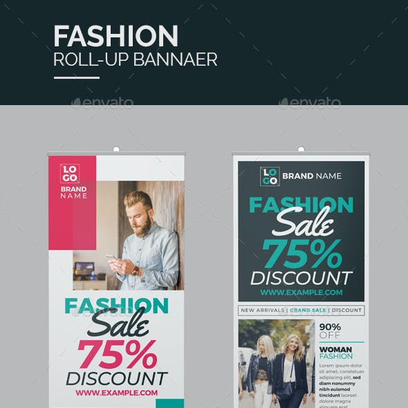 Product Sale Roll-Up Banner
