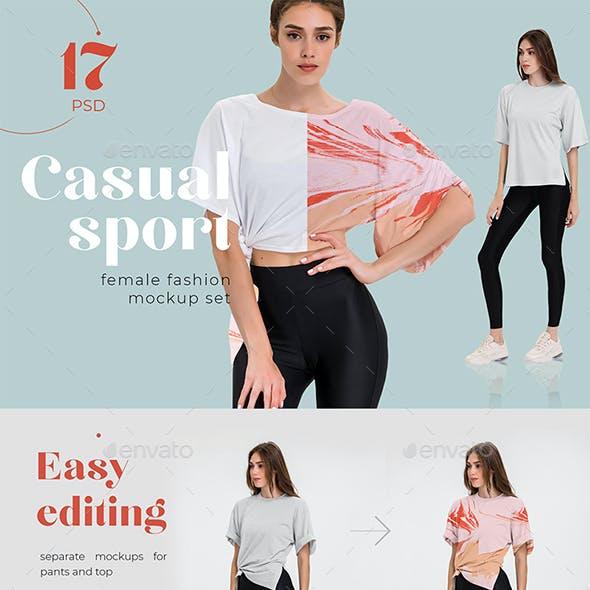 Casual Sport T-shirt Mockups