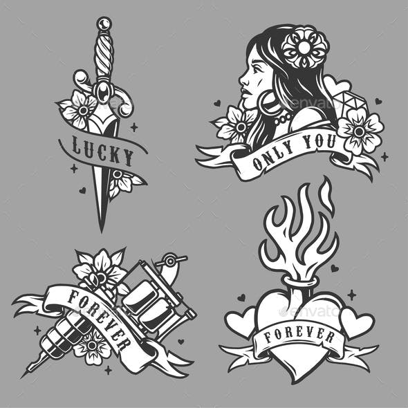 Vintage tattoos collection