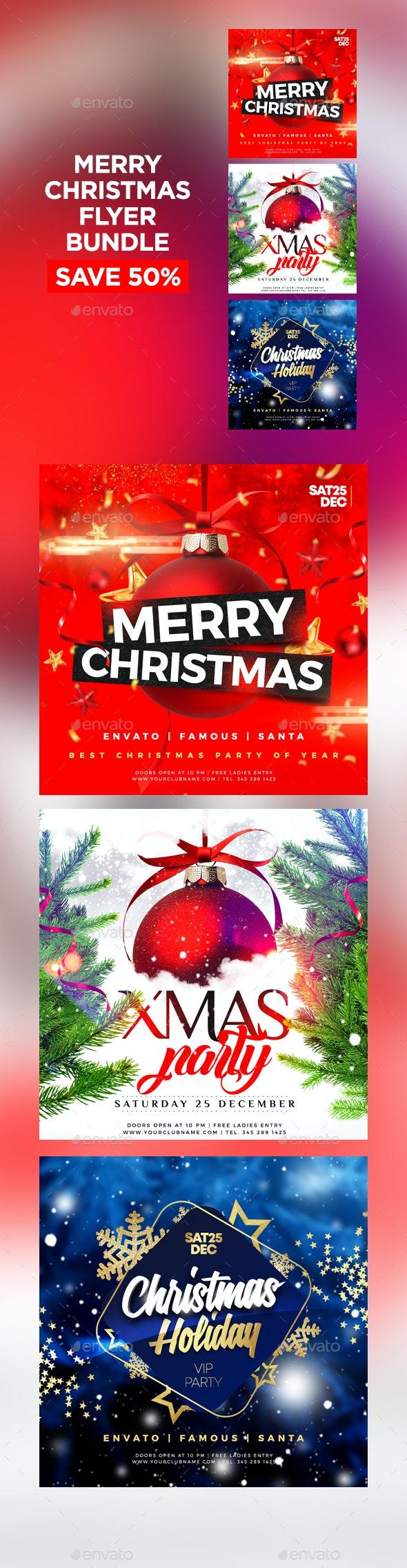 Merry Christmas Flyer Bundle - Events Flyers