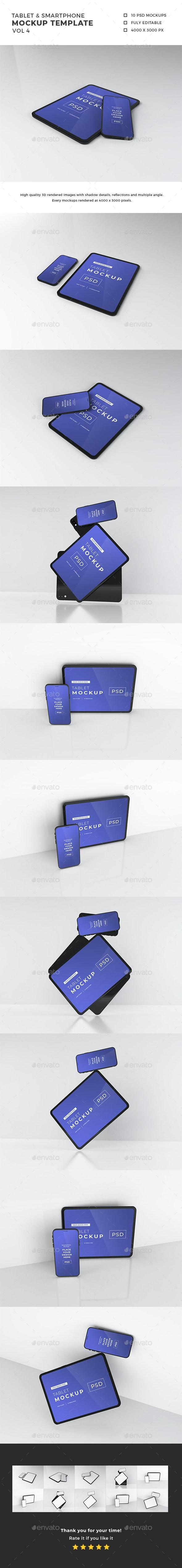 Smartphone and Tablet Mockup Template Vol 4 - Mobile Displays