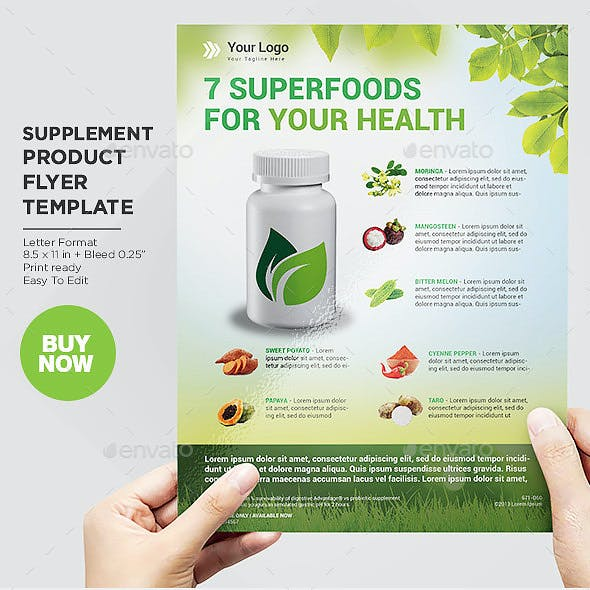 Product Flyer Organic Supplement