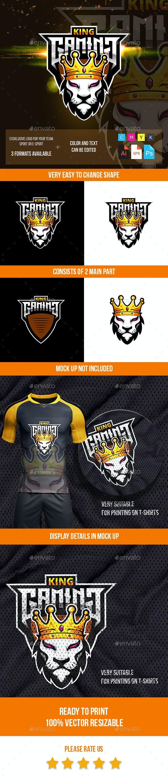 Lion King Esport Logo - Animals Logo Templates