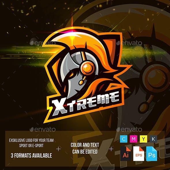 Gladiator Helmet Esport Logo for Gaming
