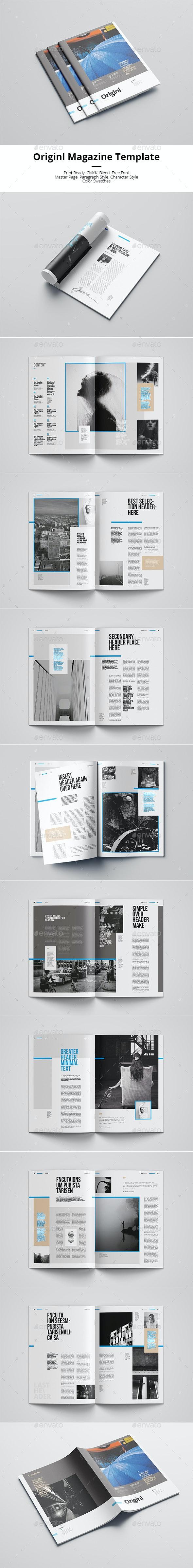 Originl Magazine - Magazines Print Templates