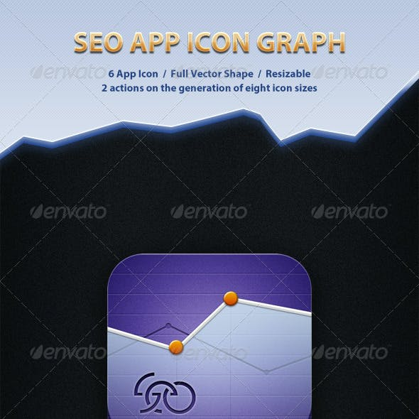 SEO App Icon Graph