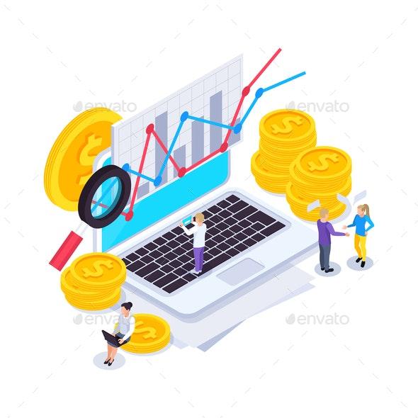 Financial Web SEO Composition - Business Conceptual